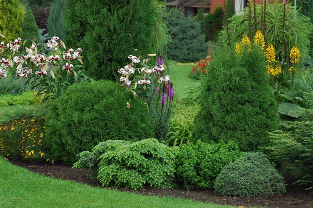 Оформления сада в природном стиле